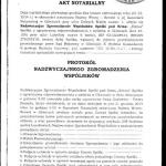 Akt Notarialny wypis str.1