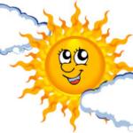Chmurki isłoneczko
