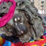 Dekorowanie bytomskiego lwa