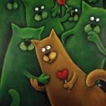 Kocie gody - obraz Marek Regner