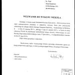 Wezwanie dowykupu weksla Anna Kaziewicz