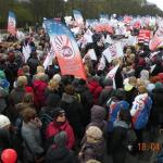 Manifestacja OPZZ wWarszawie 18.04.2015 roku