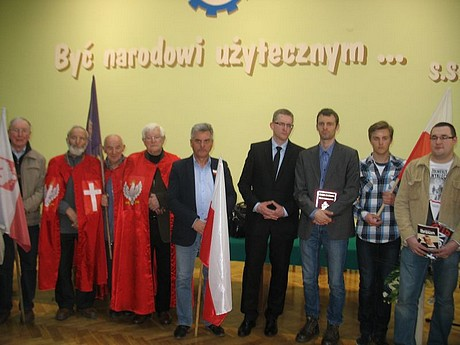 Spotkanie Grzegorza Brauna wsali NOT wBielsku-Białej - fot.Grzegorz Braun