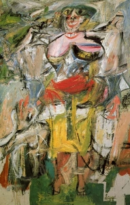 Willem de Kooning 'Woman and bicycle'
