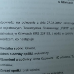 Wykreślenie siedziby spółki Funt Sp. zo.o. zKRS