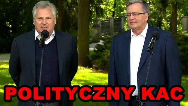 Polityczny kac Komorowskiego powsparciu przezKwaśniewskiego