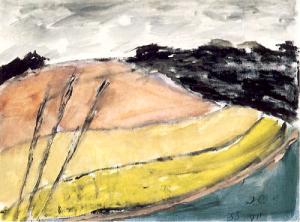 Józef Czapski 'Krajobraz zbadylami'