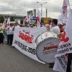 Pikieta Solidarności przedFiat Auto Poland wTychach wdniu 09.06.2015 roku