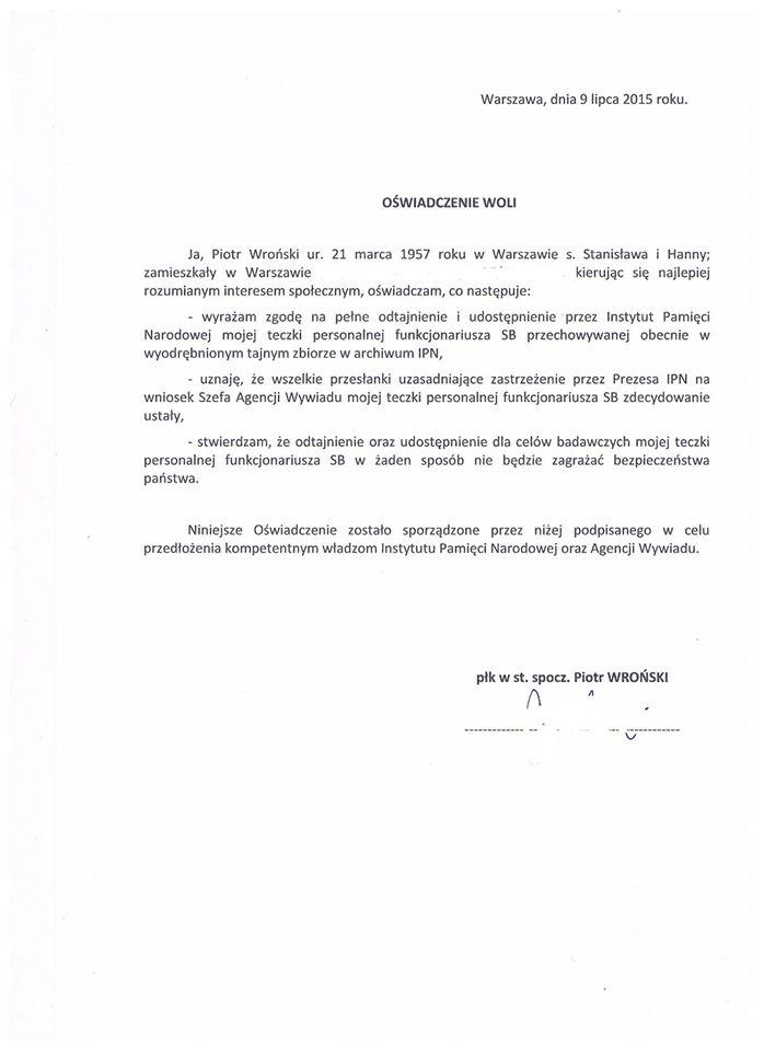 Oświadczenie woli doIPN