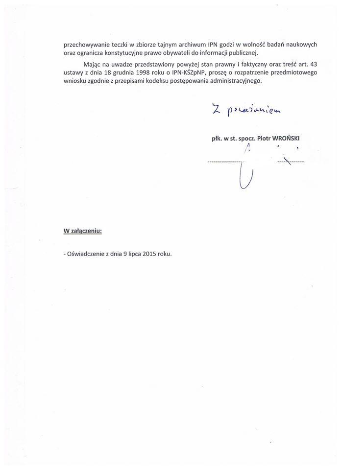 Pismo doPrezesa IPN - str. 2