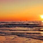 Zachód słońca nadmorzem