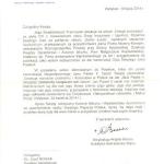 List odPapieża Franciszka zpodziękowaniem zaalbum - Dokąd zmierzasz
