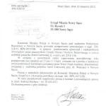 Pismo zPolicji wNowym Sączu