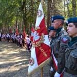 Poczty sztandarowe nauroczystościach 95. rocznicy Bitwy Warszawskiej - Ossów 2015