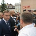 Prezydent udziela wywiadu portalowi Pressmania - fot.Rafał Chorąży