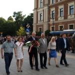 Zjednoczona Prawica skłąda przedPomnikiem Nieznanego Żołnierza wKrakowie kwiaty - fot.Darek Pitaś
