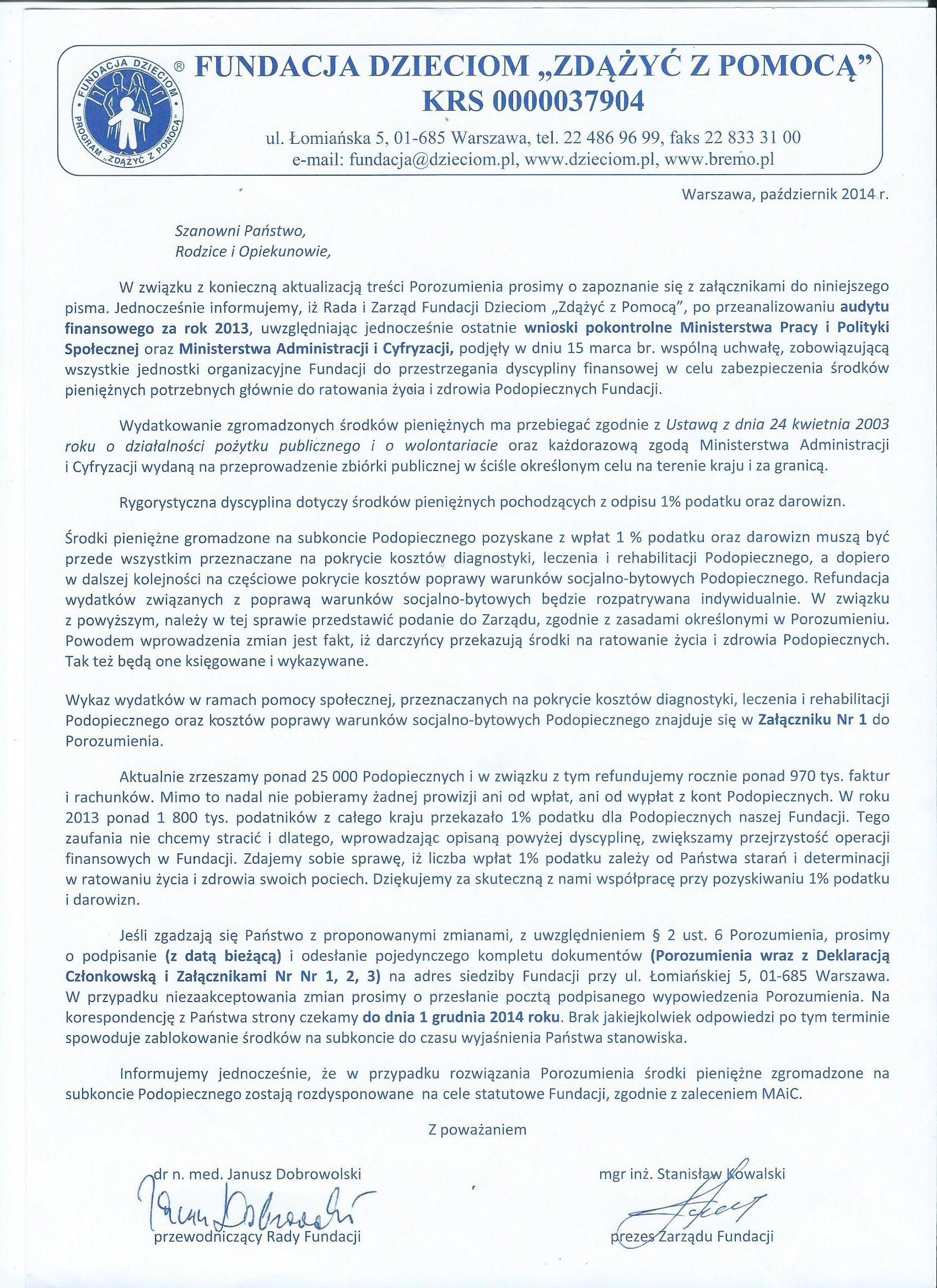 """Fundacja """"Zdążyć z pomocą"""", Warszawa"""