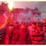 Śląska manifestacja przeciw polityce rządu ws imigrantów - fot.Patryk Niedźwiedzki