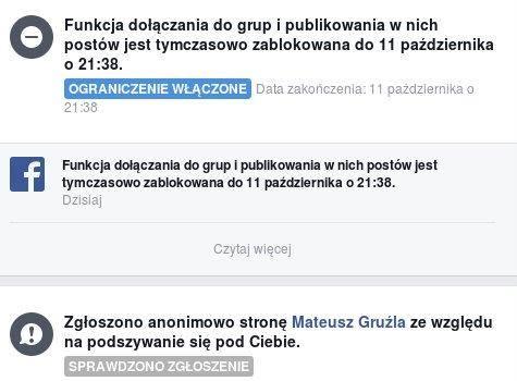 Blokada Gruźli naFacebooku