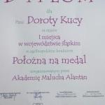 Dyplom dla Doroty Kuca