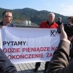 Brynkus iAda Karcz Zielińska podczas hucpy POzotwarciem zbiornika wodnego wŚwinnej Porębie