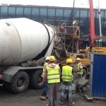Pracownicy Astaldi nabudowie terminalu Kraków Balice