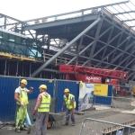 Pracownicy nabudowie terminala Kraków Balice