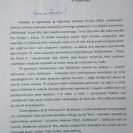 List doSolidarności posła drhab. Jóżefa Brynkusa