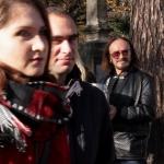 Stan Borys kwestuje nacmentarzu Rakowickim - fot.Jan Lorek