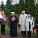 Uroczytsoći przedpomnikiem Bł.Ks.Jerzego Popiełuszko wWadowicach 11.11.2015r.
