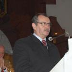 Zdzisław Szczur czyta wtrakcie mszy świętej