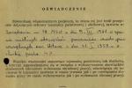 Piotr Wroński - oświadczenie otajemnicy - teczka IPN