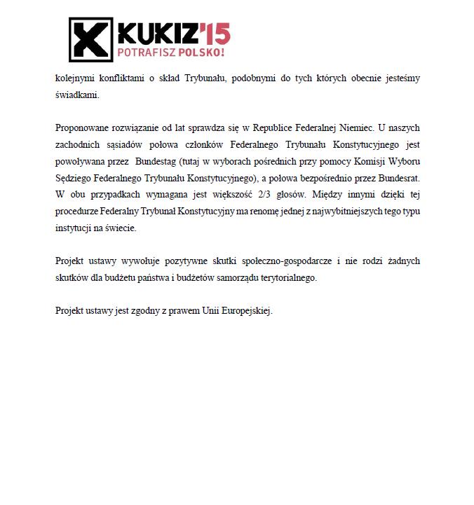 Uzasadnienie projektu zmiany ustawy oTrybunale Konstytucyjnym cz.2