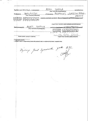 Protokół zatrzymania Adama Słomki 17.01.2016r. - str. 3