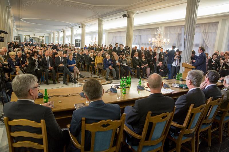 """Konferencja """"Żołnierze Wyklęci. Droga wolnych Polaków"""" zorganizowana wSejmie (25.02.2016r.)"""
