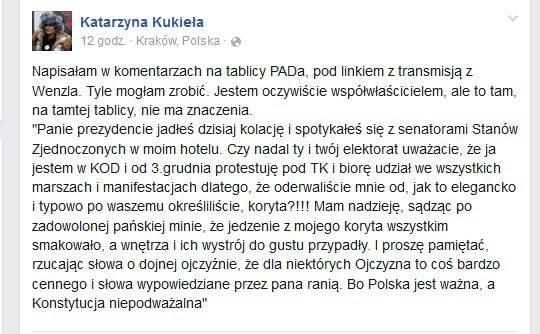 Katarzyna Kukieła owizycie PAD wHotelu Wentzl