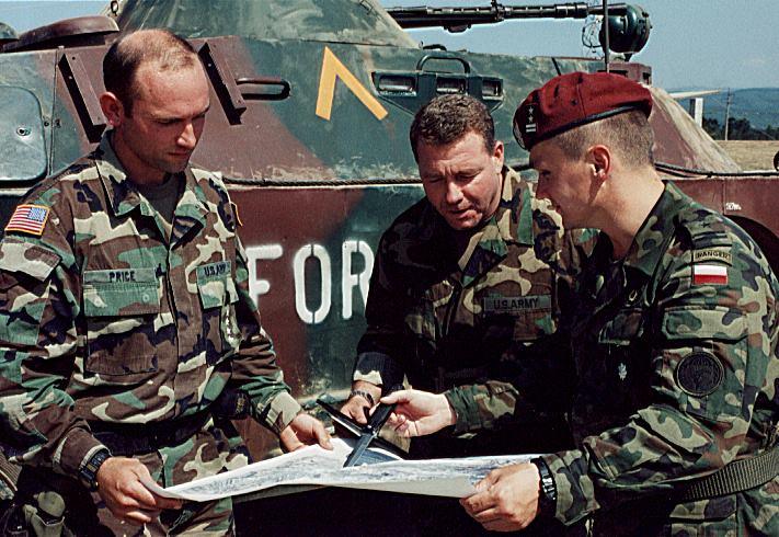 Roman Polko namisji zżołnierzami USA Army