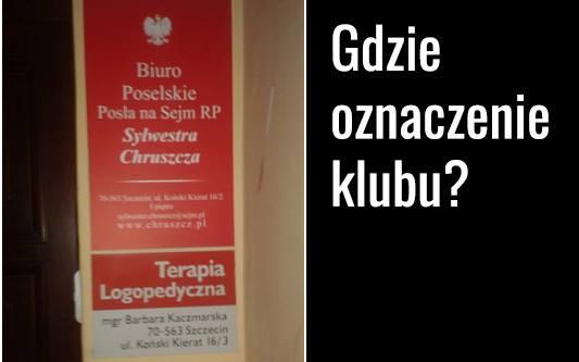 Gdzie oznaczenie Klubu Kukiz'15