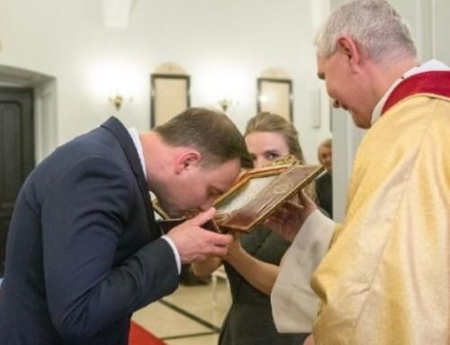 Św. Andrzej Bobola uparty izawzięty mężczyzna. Żłóżmy życzenia Prezydentowi