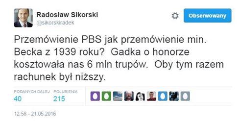 TWETT Radosława SIKORSKIEGO