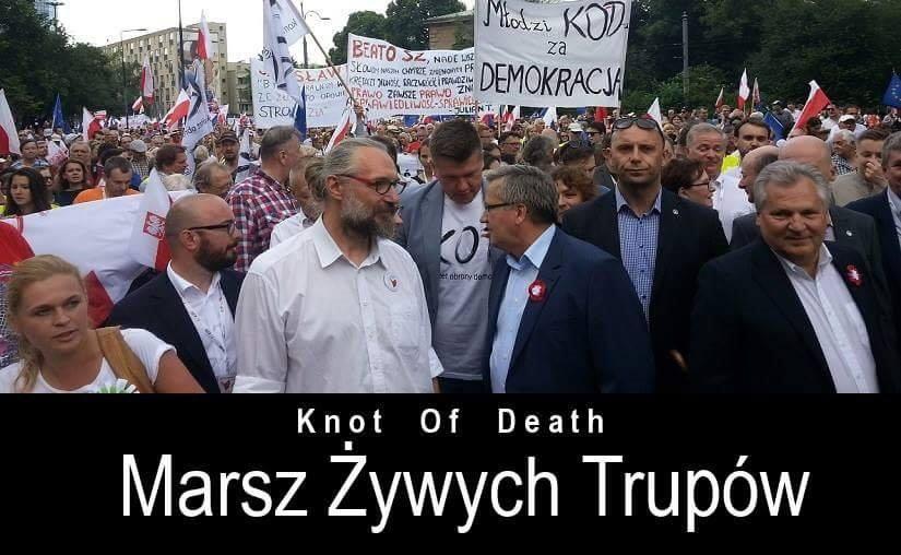 Polityczne trupy izoombie wyszły naulice Warszawy