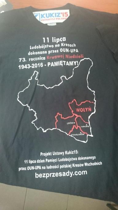 Koszulka przód - Wołyń Pamiętamy