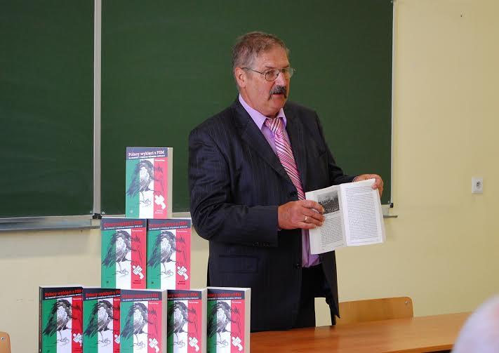 Rajmund Pollak podczas premiery książki - Polacy wyklęci zFSM zakomuny ipodczas włoskiej inwazji - fot.Henryk Pollak