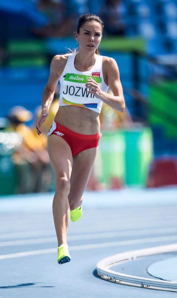 Joanna Jóźwiak podczas biegu naOlimpiadzie wRio 2016