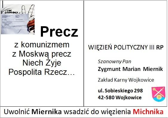 Kartka dla Zygmunta Miernika - str. adresowa