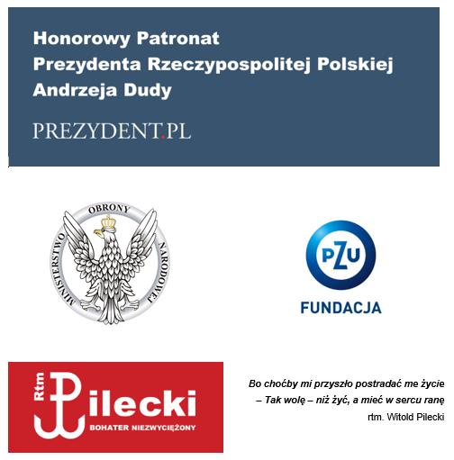 Międzynarodowy konkurs naplakat Rotmistrz Pilecki Bohater Niezwyciężony - fundatorzy nagród