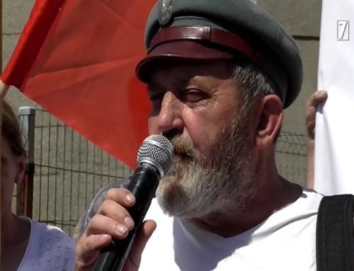 Zwizytą uwięźnia politycznego III RP Zygmunta Miernika wUhercach Mineralnych