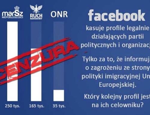 Facebook kasuje stronę Marszu Niepodległości. Mówię STOP cenzurze!