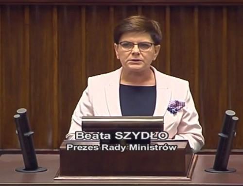 Premier Beata Szydło: Musimy uporządkować wszystko, co popsuliście