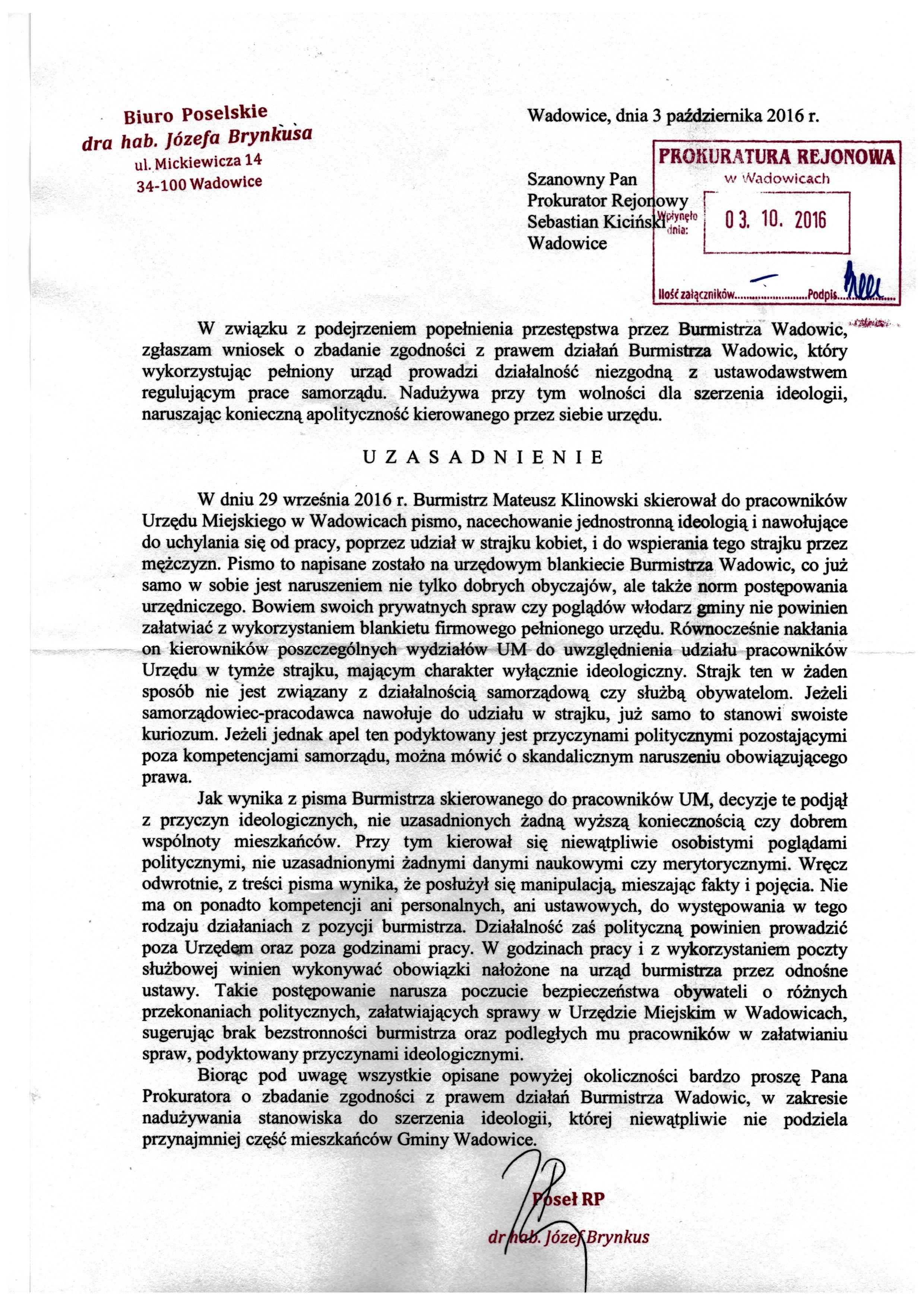 wniosek-do-prokuratury-o-mozliwosci-popelnienia-przestepstwa-przez-klinowskiego